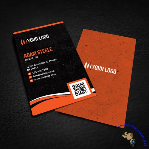 PSD Template - Rounded Corner Business Card Design