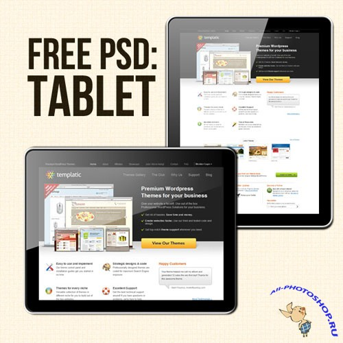 PSD Template - Tablet