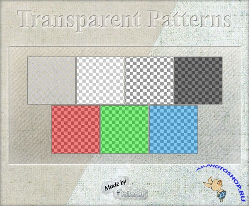Transparent Patterns for Photoshop