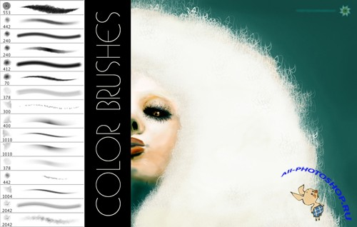 Color Brushes Set for Photoshop