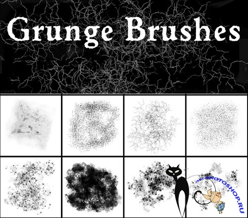 Grunge Brushes Set for Photoshop