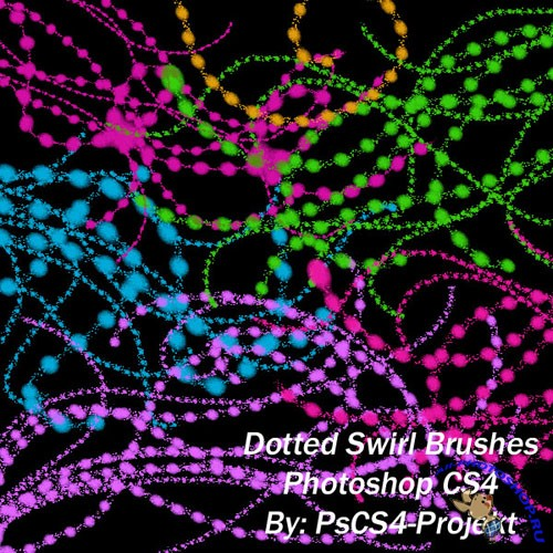 Brushes for Photoshop - Dotted Swirl Ps CS4