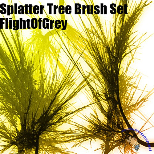 Brushes for Photoshop - Splatter Tree