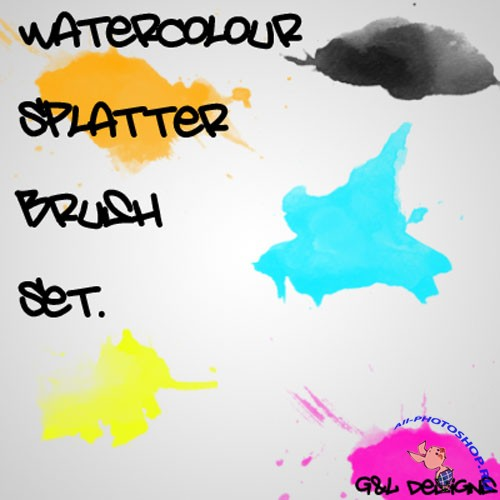 Brushes for Photoshop - Watercolour Splatter