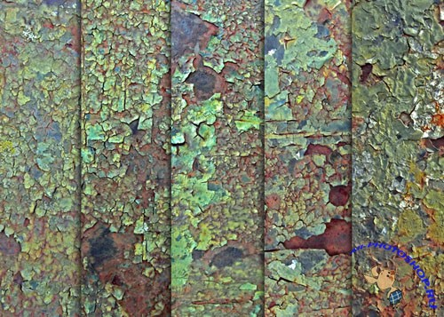 Textures - Rusted Green Cracked Paint