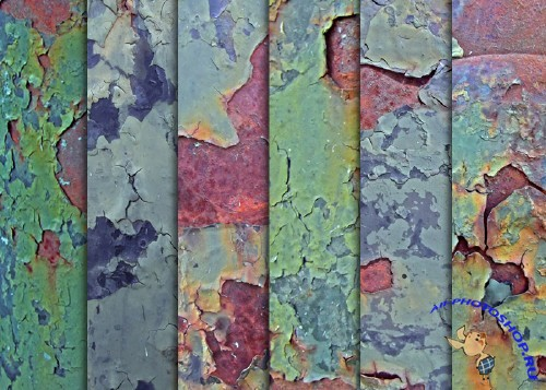 Textures - Grungy Green Chipping Paint