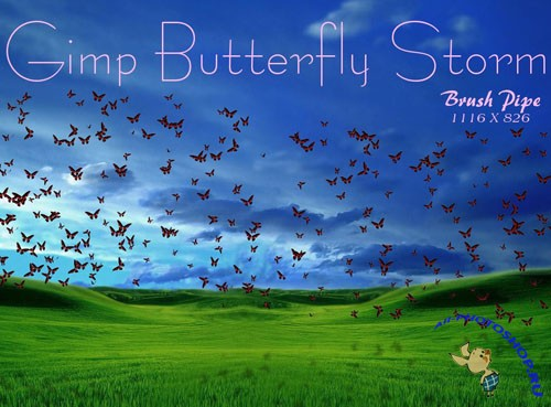 Brushes for Photoshop - Gimp Butterfly Storm