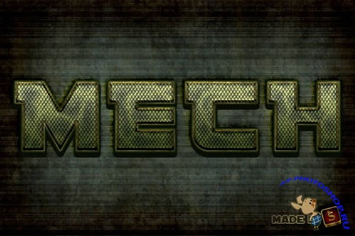 Mech-Inspired Text Effect in Photoshop