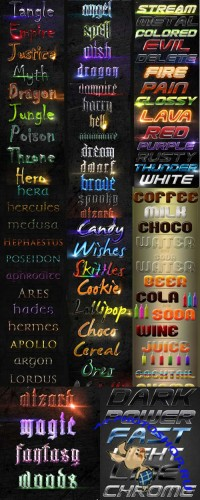 Super Text Styles For Photoshop Pack 2