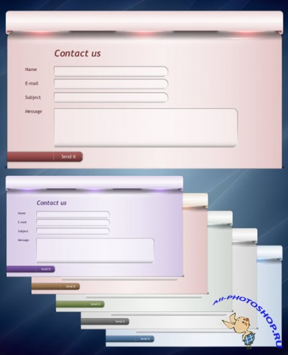 Website Contact Form for Photoshop