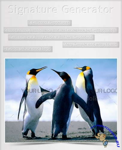 Watermark Generator Action for Photoshop