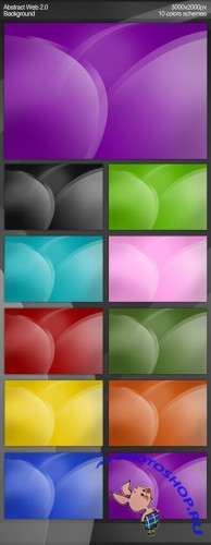 Web 2.0 Background in 10 Colors