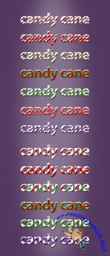 Candy Cane Text Styles for Photoshop
