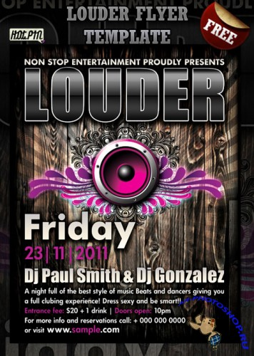 PSD Template - Louder Party Flyer/Poster