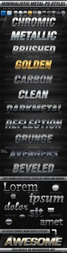 GraphicRiver - Minimalistic Metal Photoshop Styles 2311223