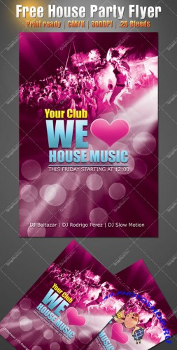 House Party Flyer/Poster PSD Template