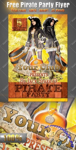 Pirate Party Flyer/Poster PSD Template