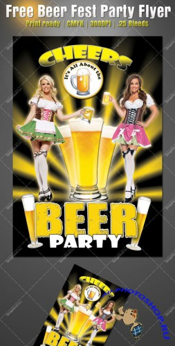 Beer Fest Party Flyer/Poster PSD Template