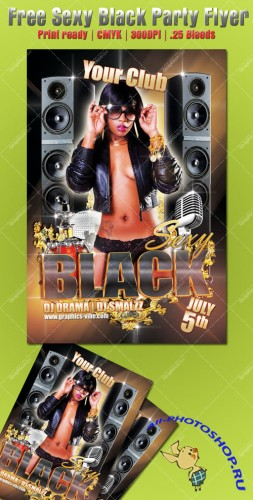 Sexy Black Party Flyer/Poster PSD Template