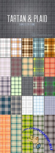 Seamless Tartan & Plaid Patterns - MediaLoot