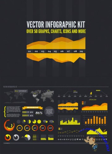 Vector Infographic Kit - MediaLoot