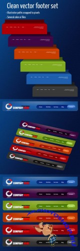 Vector Web Footer Ribbon for Photoshop