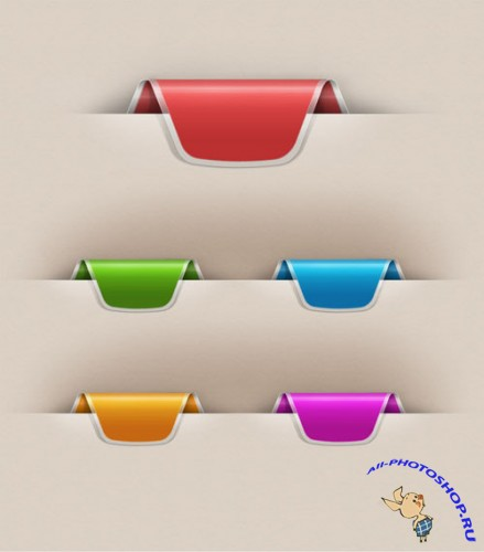 Colorful Web Ribbons Set