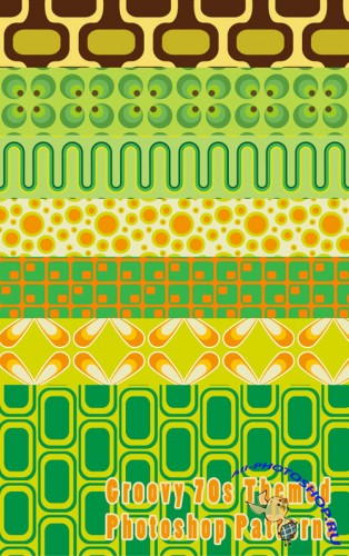Patterns for Photoshop - Groovy 70s Themed