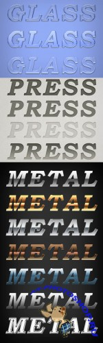 Letterpress, Glass and Metal Styles for Photoshop