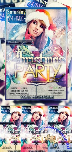 Freemium Christmas Party Flyer/Poster Flyer PSD Template V2