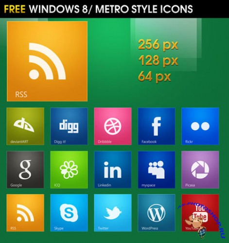 Icons - Windows 8 / Metro Style Social Pack