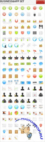 GraphicRiver - 150 Business & Application Icons 85303