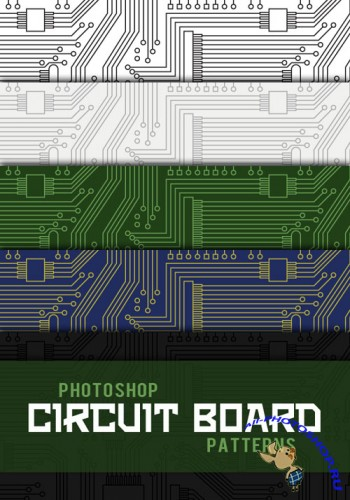 Brushes for Photoshop - Circuit Board