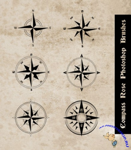 Brushes for Photoshop - Compass Rose