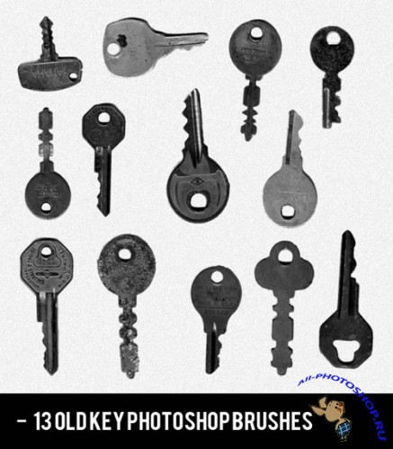 Brushes for Photoshop - Realistic Old Key