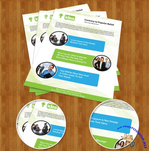 PSD Template - Corporate Single Side Brochure