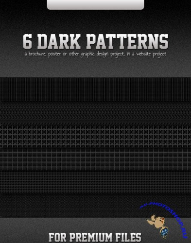 6 Dark Patterns for Photoshop