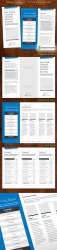 GraphicRiver - Simply Premium 7 - Tri Fold (PSD and Indd)