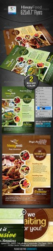 GraphicRiver - Hiway Modern Foods Flyers 2335365