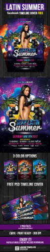 GraphicRiver - Latin Summer Party Flyer + Facebook Timeline 2332613