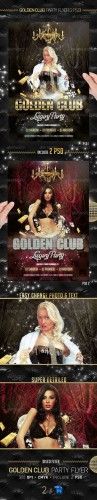 GraphicRiver - Golden Club Party Flyer Template 2332529