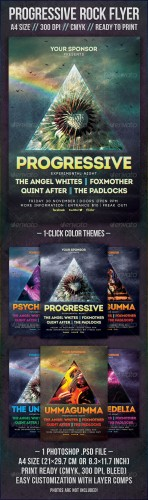 GraphicRiver - Progressive Rock Flyer 2332589
