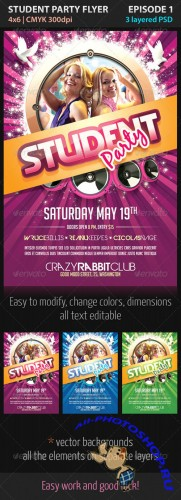 GraphicRiver - Student Party Flyer Episode 1 - 2312500