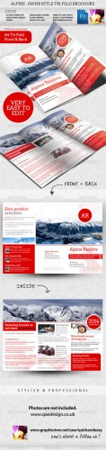 GraphicRiver - Alpine Swiss Trifold Brochure Template 2331955