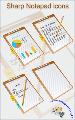 Icons - Sharp Notepad Set