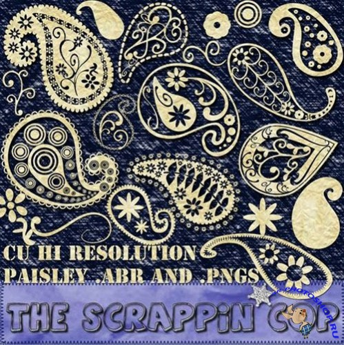 Brushes for Photoshop - Funky Paisley