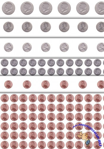 US Coins Photoshop Patterns