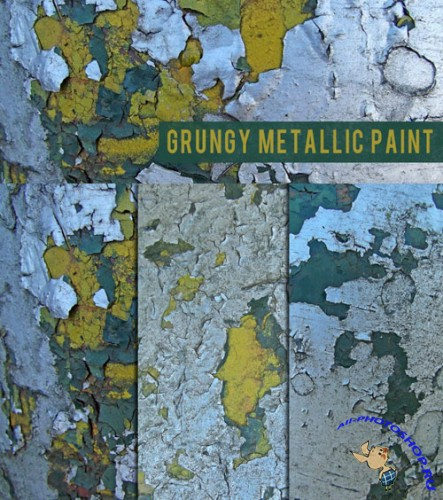 Textures - Grungy Metallic Paint