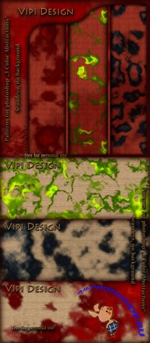 Patterns for Photoshop - 3 Color Abstractions