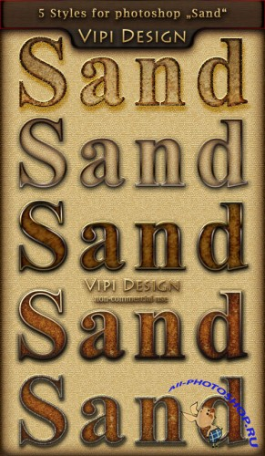 Styles for Photoshop - Sand